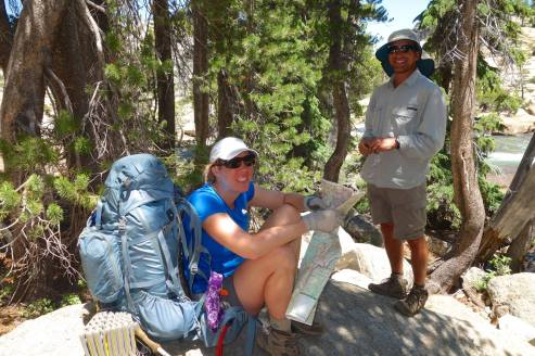 About to make a final push into Tuolumne Meadows, but checking it out on the map first. Photo Credit: Rich Caviness