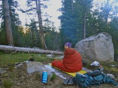 I'm not a morning person. Waking up at our dry camp north of Glen Aulin.