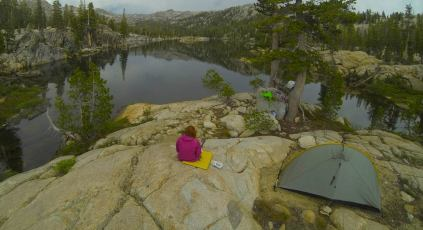 I can't thank Tom Rennie enough for this Go Pro shot of our camp near an unnamed lake.