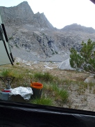 A Room With A View:  We had more than our fair share of rainy camps and dinners cooked in vestibules.