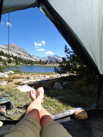A Room With A View: A short day of hiking followed by a spectacular camp at Laurel Lake.