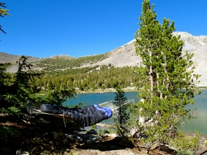 A Room With A View: One of Karen's best hammock sites, at unicorn infested Pika Lake.